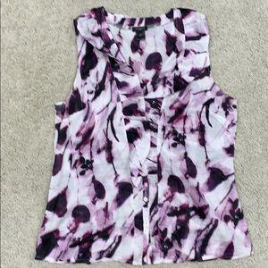 Ann Taylor sleeveless shirt w/ ruffle.  Size 12.